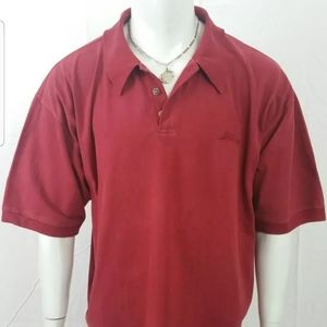 Men Shirts XL Tommy Bahama Cranberry Red Polo XL